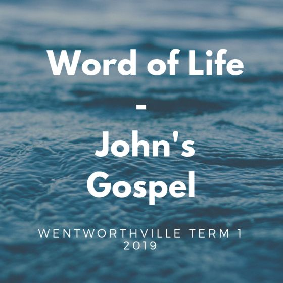 Sermons from John's Gospel, delivered at Wentworthville Presbyterian Church Term 1 2019